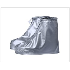 Qi Jual Panas Uniseks Pria dan Women's Menebal Tahan Aus Air-Tahan Hujan BOT Sepatu Sarung-Perak -Internasional