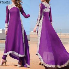 Promo Qiaosha Zanzea Fashion Wanita Musim Panas Boho Dress Evening Party Lengan Panjang Maxi Beach Dress 6 16 Ungu Intl Di Tiongkok
