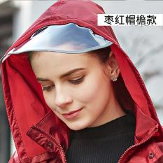 Harga Qinfeiman Jas Hujan Reflektif Tipe Terpisah Keunguan Merah Bagian Penuh Baru Murah