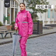 Diskon Qinfeiman Jas Hujan Reflektif Tipe Terpisah Rose Model Single Layer Oem