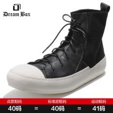 Toko Dreambox2017 Eropa Dan Amerika Kanvas Musim Semi Dan Musim Gugur Besar Sepatu Engkel Tinggi Model Laki Laki Warna Hitam Dan Putih Indonesia