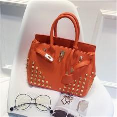 Eropa Dan Amerika Serikat Paku Keling Musim Semi Dan Musim Panas Produk Baru Tas Model Hermes (Kuku kuku Bojin tas oranye)