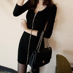 Tambah Beludru Perempuan Setengah Panjang Model Korea Fashion Style Ritsleting Jas Lebih Tebal Bottoming Kemeja ((Ditambah Beludru) Hitam) baju wanita baju atasan kemeja wanita