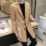 Harga Qiudong Korea Fashion Style Laki Laki Dan Bagian Panjang Wol Jaket Parka Mantel Khaki Jaket Pria Jaket Gunung Terbaik