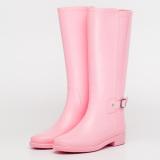 Harga Qiudong Shishang Hangat Dewasa Tahan Air Hujan Sepatu Sepatu Air Merah Muda Sepatu Wanita Sepatu Boot Wanita Oem Original