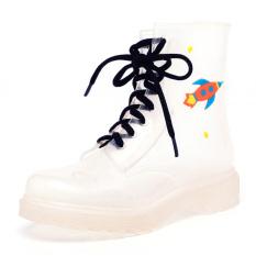 Sepatu Karet Modis Musim Semi atau Musim Panas Sepatu Udara Transparan Pendek (Ruang Bear