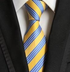 Toko Qizhef Pria 8 Cm Polyester Modis Suasana Bergaris Dasi Business Tie Kuning Intl Online