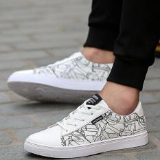 Beli Qizhef Pria Sepatu Kanvas Fashion Putih Intl