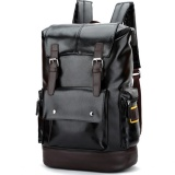 Review Qizhef Pria Fashion Murni Warna Pu Kulit Fashion Travel Bag Black Intl Tiongkok