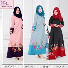 Qonitah Project GDK 247 Size L Original Keke Busana Gamis Dewasa Balotely Sarimbit 04 Busana Muslim Baju Muslim Branded