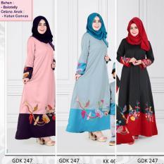 Qonitah Project GDK 247 Size S Original Keke Busana Gamis Dewasa Balotely Sarimbit 04 Busana Muslim Baju Muslim Branded