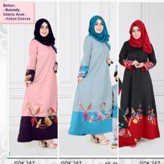 Qonitah Project GDK 247 Size XS Original Keke Busana Gamis Dewasa Balotely Sarimbit 04 Busana Muslim Baju Muslim Branded