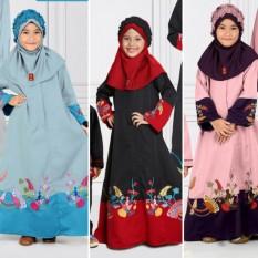 Qonitah Project GM 444 Size -0 Original Keke Busana Long Dress For Little Girl Balotely Sarimbit 01 Fashion Muslim Branded