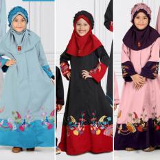 Qonitah Project GM 444 Size 6 Original Keke Busana Long Dress For Little Girl Balotely Sarimbit 01 Fashion Muslim Branded