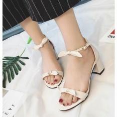 QQ Korea Terkena Toe Sandal Hak Tinggi Warna Putih