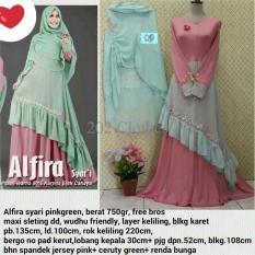 Queen Baju Gamis Jumbo Syari Afira- Gamis Wanita Muslim- Gamis Jersey XL Ori