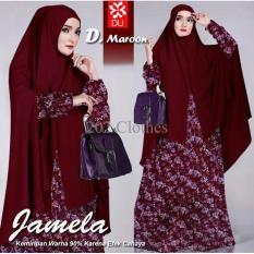 Queen Baju Gamis Jumbo Syari Jamela- Gamis Wanita Muslim- Gamis Jerse XL Ori