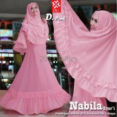 Queen Baju Gamis Jumbo Syari Nabila- Gamis Wanita Muslim- Gamis Jersey L