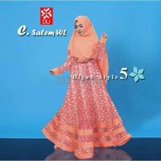 Queen Baju Gamis Jumbo Syari Style- Gamis Wanita Muslim- Gamis Bunga Syari X