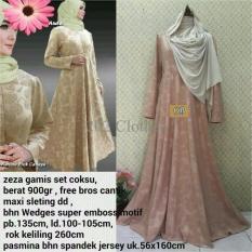 Queen Baju Gamis Jumbo Syari Zeza- Gamis Wanita Muslim- Gamis Wafel XL SALE