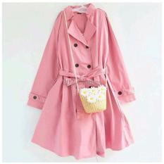 Queen Jaket Katun Coat Katun Jaket Korea Blazer Korea Kity Pink [SALE]