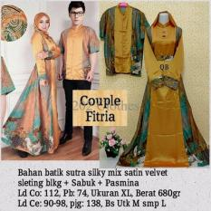 Queen Kebaya Fitria Batik Couple - Baju Pesta Kebaya Batik Couple Kuning