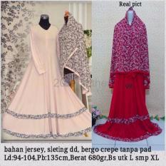 Queen Maxi Baju Gamis Jumbo Syari Bunga 101 Gamis Wanita Muslim Gamis Jersey XL