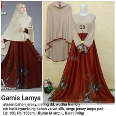 Queen Maxi Baju Gamis Jumbo Syari Lamya Gamis Wanita Muslim Gamis Satin SALE