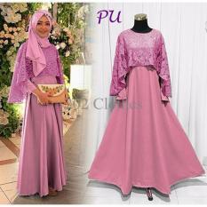 queen-maxi-dress-brukat-gaun-pesta-modern-kebaya-brukat-olivia-pink-8799-94052235-b62cef7fe17357d9a44725bf2c5f7ee6-catalog_233 10 List Harga Gaun Muslim Tuk Pesta Terbaru saat ini