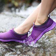 Spesifikasi Cepat Kering Rendam Sepatu Outdoor Sepatu Ringan Sejuk Jala Sepatu Sandal Sepatu Hiking Ungu International Murah Berkualitas