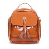 Beli Quincy Label Keira Tassel Backpack Brown Yang Bagus