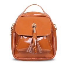 Toko Quincy Label Keira Tassel Backpack Brown Online Terpercaya