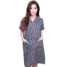 Harga Quincy Baju Tidur Salur Dress Piyama Grande Navy Di Indonesia