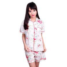 Quincy Brenna Baju Tidur Pajamas Pendek White Murah