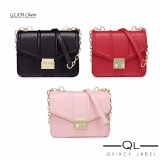 Quincy Glam Chain Pu Leather Women Bag Import Tas Pesta Selempang Wanita Merah Quincylabel Diskon 40