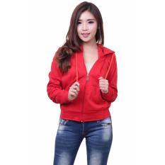 Beli Quincy Jacket Zipper Hoodie Women Red Nyicil