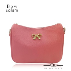 Quincy Label Bow Women Sling Bag / Pu Leather - Salem