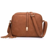 Obral Quincy Label Emma Import Women Sling Bag Brown Murah