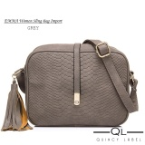 Jual Quincy Label Emma Women Sling Bag Grey Murah
