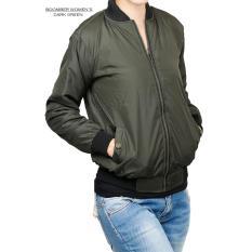 Toko Quincy Label Hailey Ladies Bomber Jacket Hijau Army Di Dki Jakarta