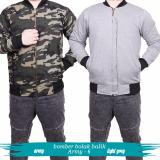 Review Toko Quincy Label Jacket Bomber Bolak Balik Army Light Grey