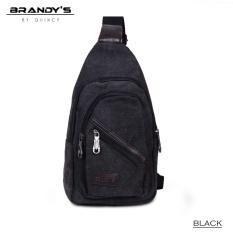 Review Brandys Kanvas Marco Man Sling Bag Imp 9751 Black Quincylabel Di Jawa Barat