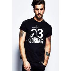 Quincy Label Kaos Print A-264 Jordan - Black