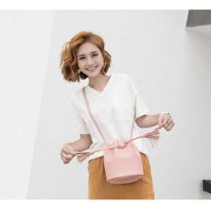Tas Wanita/ Dompet Wanita/ Dompet Mini/ Dompet Fashion/Tas Selempang/ Tas Bahu Wanita/ Bucket Bag/ Tas serut miniso - Pink
