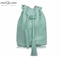 Tas Wanita/ Dompet Wanita/ Dompet Mini/ Dompet Fashion/Tas Selempang/ Tas Bahu Wanita/ Bucket Bag/ Tas serut miniso  - PowderBlue