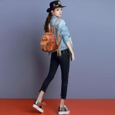 Toko Quincy Label Milley 2In1 Backpack Sling Women Bag Tas Punggung Tas Selempang Wanita Brown Online Terpercaya