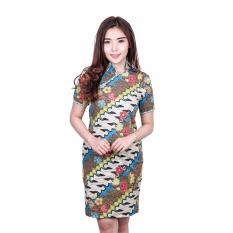 Toko Quincy Label Shanghai Batik Dress Biru Terlengkap Di Indonesia
