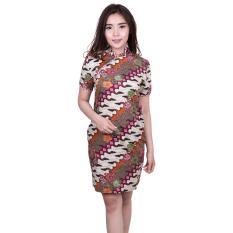 Beli Quincy Label Shanghai Batik Dress Ungu Cicilan