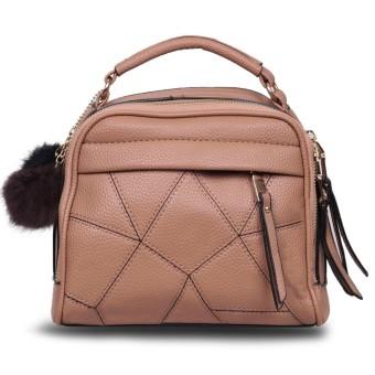 Quincy Label Tas Pom Pom Import / Women Fashion Bag Brown