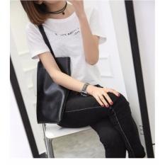 Quincy Label Tote Oyuka Miniso Slim Bag 8889 Black Original